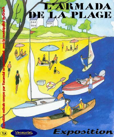 Affiche d'expo 'L'Armada de la Plage'