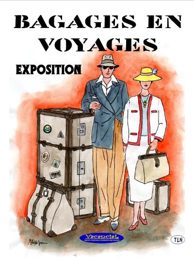 Affiche d'expo 'Bagages en Voyages'