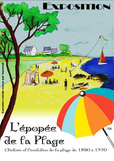 Affiche d'expo 'L'Épopée de la Plage'