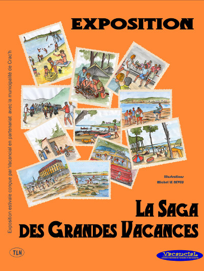 Affiche d'expo 'La Saga des Grandes Vacances'