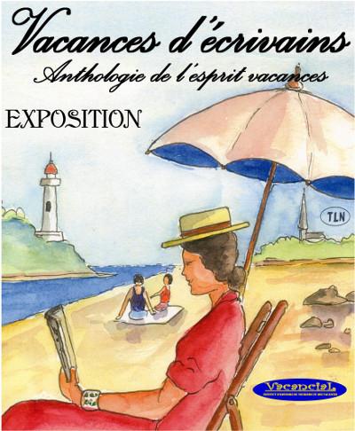 Affiche d'expo 'Vacances d'écrivains'