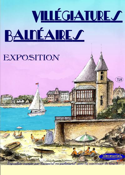 Affiche d'expo 'Villégiatures Balnéaires'