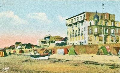 Illustration (immeubles face à la plage)