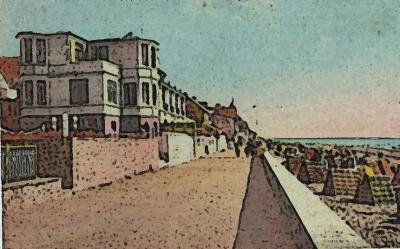 Illustration (remblai entre immeubles et plage)
